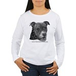 Roxy, Pit Bull Terrier Women's Long Sleeve T-Shirt