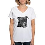 Roxy, Pit Bull Terrier Women's V-Neck T-Shirt