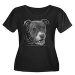 Roxy, Pit Bull Terrier Women's Plus Size Scoop Nec