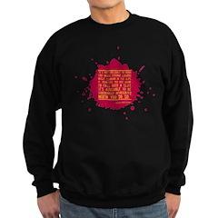 It's Not Advisable Sweatshirt (dark)