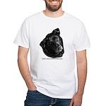 Corvis, Black Lab Mix White T-Shirt