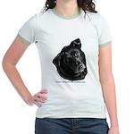 Corvis, Black Lab Mix Jr. Ringer T-Shirt