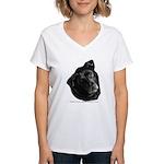 Corvis, Black Lab Mix Women's V-Neck T-Shirt