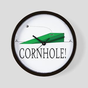 Cornhole Wall Clock