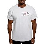 GC2 TM (Hot Pink/Black) Ash Grey T-Shirt