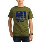 21st Birthday Organic Men's T-Shirt (dark)