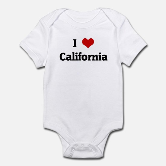 I Love California Infant Bodysuit