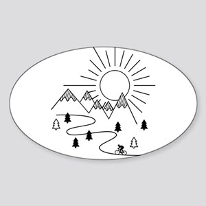Cycling in the Mountains Sticker