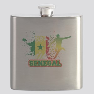 Football Worldcup Senegal Senegalese Soccer Flask