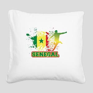 Football Worldcup Senegal Sen Square Canvas Pillow