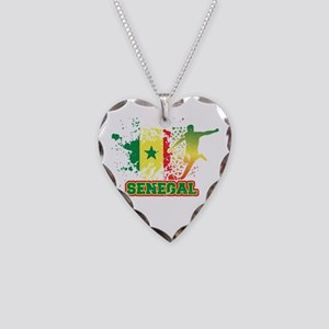 Football Worldcup Senegal Sen Necklace Heart Charm