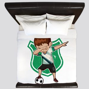 Football Dab Nigeria Nigerian Footballe King Duvet