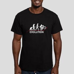 Mountain Bike Evolution Men's Fitted T-Shirt (dark