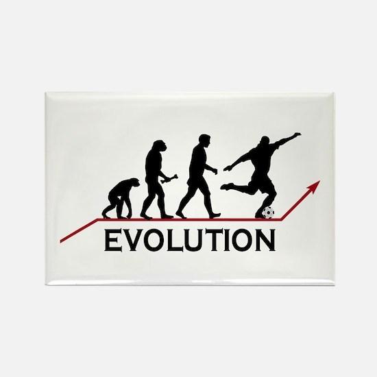 Soccer Evolution Rectangle Magnet