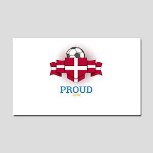 Football Danes Denmark Soccer T Car Magnet 20 x 12