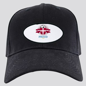 Football Danes Denmark Soccer Black Cap with Patch