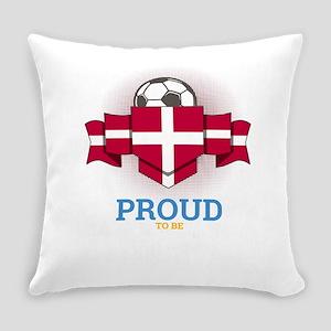 Football Danes Denmark Soccer Team Everyday Pillow