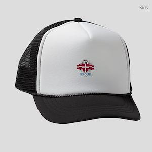 Football Danes Denmark Soccer Tea Kids Trucker hat