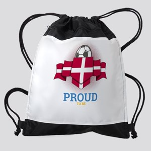 Football Danes Denmark Soccer Team Drawstring Bag