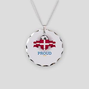Football Danes Denmark Socce Necklace Circle Charm