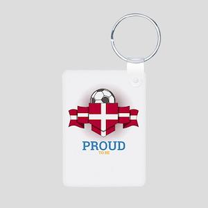Football Danes Denmark Soccer Team Sport Keychains