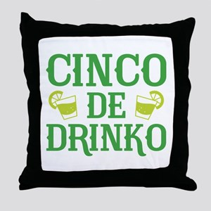 Cinco De Drinko Throw Pillow