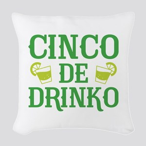 Cinco De Drinko Woven Throw Pillow