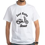 Just Gotta Scoot People 250 White T-Shirt