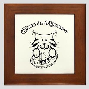 Cinco de Meow-o Framed Tile