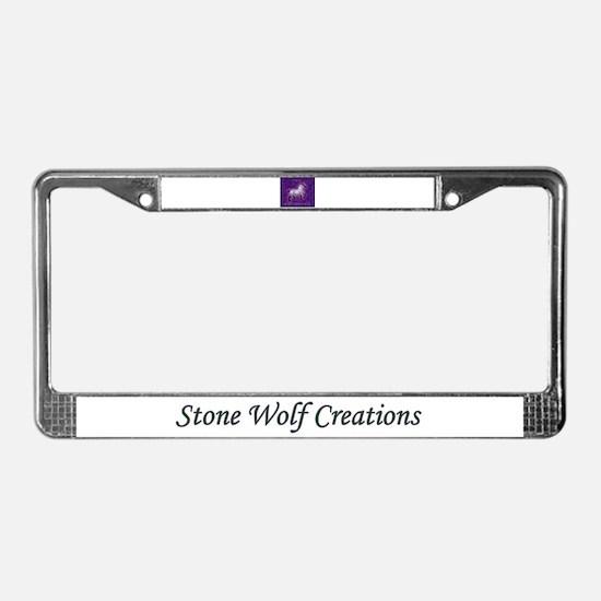 Model Horse-a-holic License Plate Frame