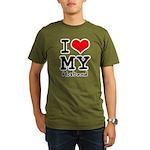 I love my husband Organic Men's T-Shirt (dark)