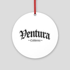 Ventura California Ornament (Round)