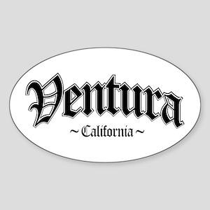 Ventura California Oval Sticker