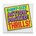 Action-Packed Thrills Tile Coaster