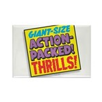 Action-Packed Thrills Rectangle Magnet