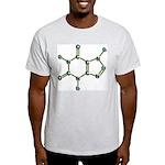 Caffeine Molecule Ash Grey T-Shirt