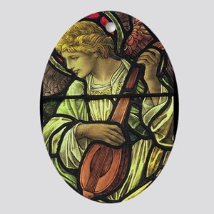 A Musical Angel Ornament (Oval)