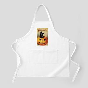 Vintage Halloween, Cute Black Cat Apron