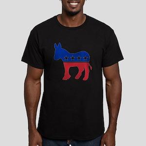 Democrat Donkey Men's Fitted T-Shirt (dark)