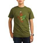 Silly Happy Hermit Crab Organic Men's T-Shirt (dar