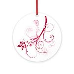 Swirls & Twirls Ornament (Round)