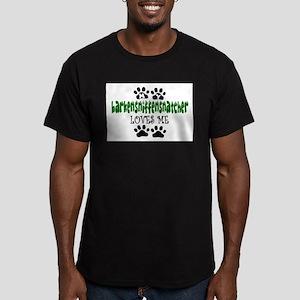 BARKENSNIFFENSNATCHER Men's Fitted T-Shirt (dark)