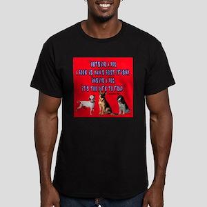Inside a dog Men's Fitted T-Shirt (dark)