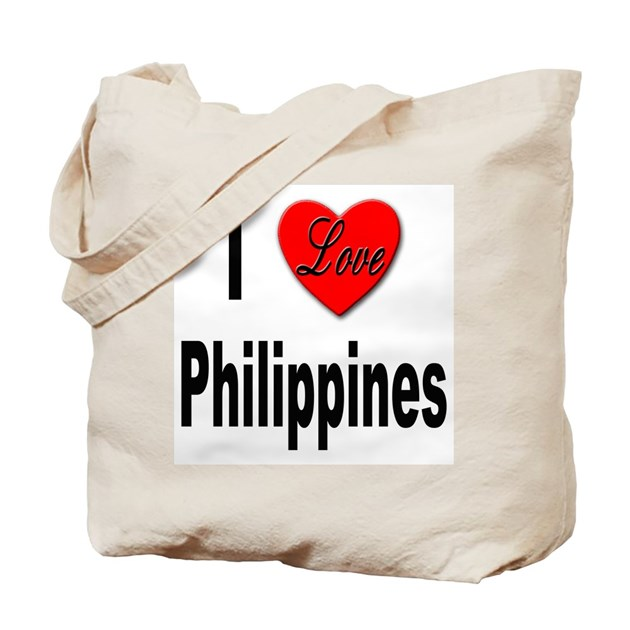 I Love Philippines Tote Bag By Stickem