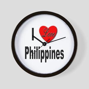 I Love Philippines Wall Clock