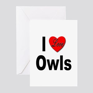 I Love Owls Greeting Cards (Pk of 10)