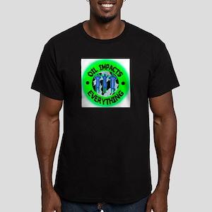 OIL BEGETS EVIL Men's Fitted T-Shirt (dark)