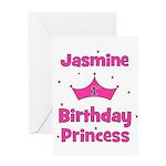 1st Birthday Princess Jasmine Greeting Card