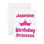 1st Birthday Princess Jasmine Greeting Cards (Pk o