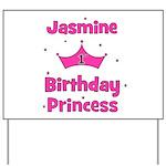1st Birthday Princess Jasmine Yard Sign